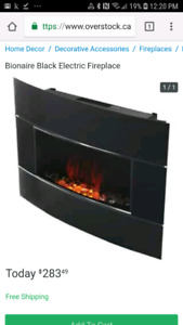 Brand new in box Bionaire Electric Fireplace