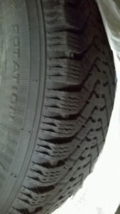 """Winter Tires (4) on a complete set of 15"""" rims"""