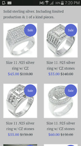 sterling silver rings ON SALE