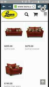 Leons 4 piece couch Reduced* London Ontario image 3