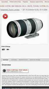 **NEW**CANON LENS** 70-200mm F/2.8L IS II USM