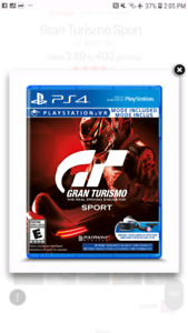 Looking for gran turismo sport ps4
