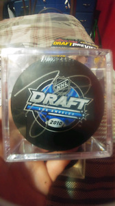 Taylor Hall Signed Draft Puck