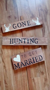 Sign gone hunting/to get married