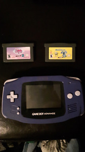 Gameboy advance with games.