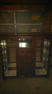 Handmade Mennonite China cabinet