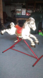 1960's Metal Mobo Spring Horse