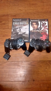 PlayStation 2 controllers and games 25$