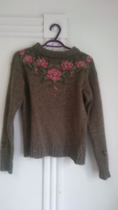 Assorted hipster jackets and sweaters, size M