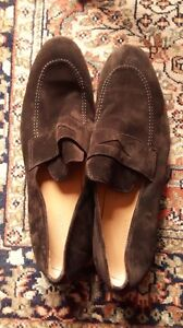 $600 MIGLIORE Italian Nordstrom Brown Suede Loafers 10.5-11