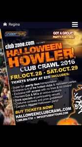Halloween pub crawl oct 29. Looking for 2 tickets