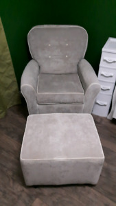 Baby Maternity Glidder rocking chair and stool