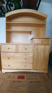 Solid Maple Kids Armoir For Sale
