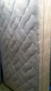 Rare Long single pillowtop mattress & base (delivery)