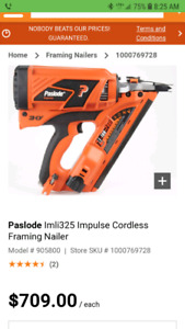 Paslode nail gun best in the market as many as you want 650 cash