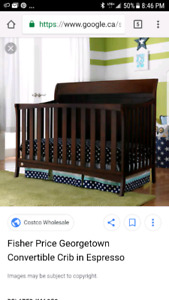 Fisher-Price Georgetown Convertible crib  with mattress