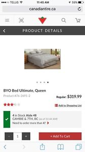 BYO Bed Queen size camping/guest bed.
