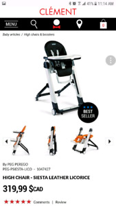 Peg perego high chair black