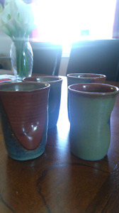 Brand new handmade Clay cups from PEI