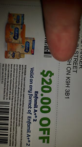 Enfamil A+2   20.00 off coupon