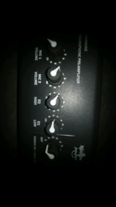 KAREOKE MICROPHONE PREAMP EQUALIZER FOR HOOKING UP 2 MICROPHONES
