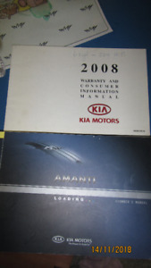 Kia Amanti 2008 Manual &Service Book