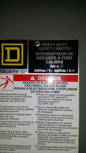 BRAND NEW SQUARE D 400 AMP FUSIBLE DISCONNECT