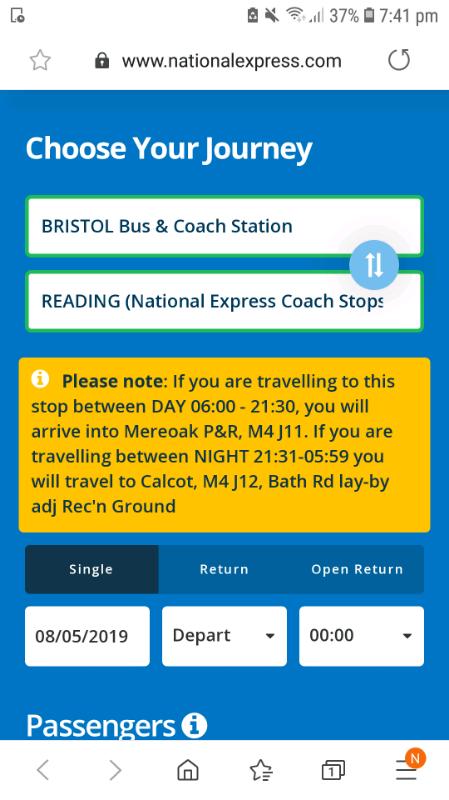 2x Bristol to Reading coach tickets | in Kingswood, Bristol | Gumtree
