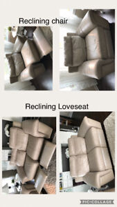 Leather Loveseat and Chair (sofa)