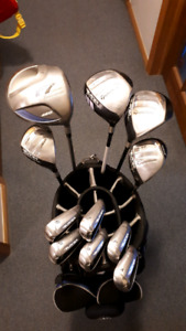 LADIES TAYLOR MADE SUPERLAUNCH IRONS, SUPER FAST 3,5 WDS & R7 DR
