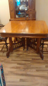 Antique Table for Christmas Dinner