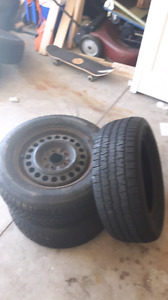 BF GOODRICH  3 TIRES GOOD CONDITION AND2 FUZION
