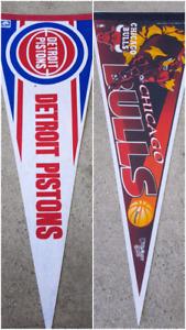 Detroit Pistons And Chicago Bulls NBA Full Size Pennants