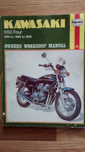Haynes Kawasaki 650 Four Workshop Manual 76 To 78