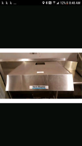 Hotte  commerciale ventmaster inox stainless 30 x 34