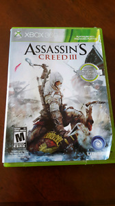 ASSASSIN'S CREED 1, 2 , and 3   XBOX 360