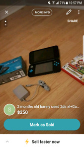 Barely used 2ds XL with game $150
