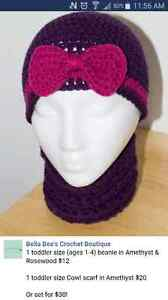 Toddler hat & cowl set