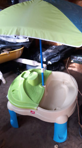 step 2 sand and water table with accessories
