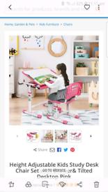 Height Adjustable kids study desk 3-10 age