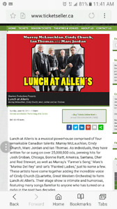 2x tickets to Lunch at Allens