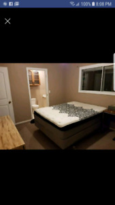 Furnished master bedroom in house for rent.