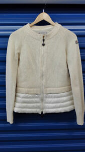 authentic womens MONCLER sweater with down $250 obo - $250