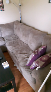 Sectional couch with queen pullout  SOLD PPU
