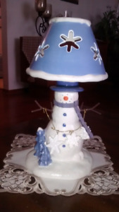 Snowman Decorative Candle Holder