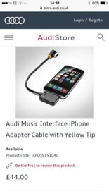 Audi music interface iPhone adapter cable