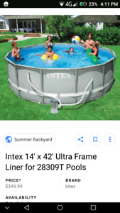 "Intex 14'X42"" Pool (IF AD IS UP IT'S AVAILABLE"