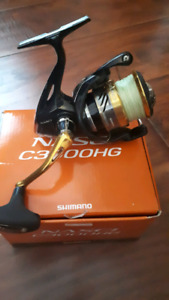 Mint shimano nasci c3000HG with carbon drag upgrade
