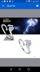 Silver Filled Zodiac Astronomy Astrology Sign Rings jewelry