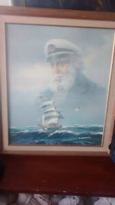 Billy Wilder Captain Painting ( Signed )